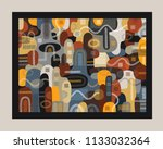 a colourful painting full... | Shutterstock .eps vector #1133032364