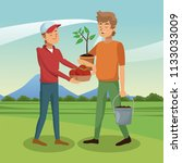 mens and gardening | Shutterstock .eps vector #1133033009