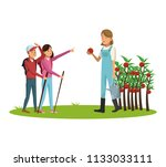people and gardening | Shutterstock .eps vector #1133033111