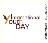 international youth day  logo | Shutterstock .eps vector #1133037014