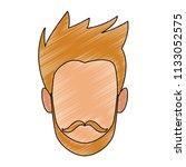 man faceless cartoon scribble   Shutterstock .eps vector #1133052575