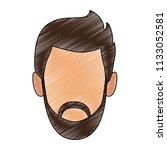 man faceless cartoon scribble   Shutterstock .eps vector #1133052581