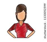 young woman faceless cartoon...   Shutterstock .eps vector #1133052599