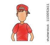 young man faceless cartoon...   Shutterstock .eps vector #1133052611