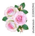 flower composition. a bouquet... | Shutterstock . vector #1133052941