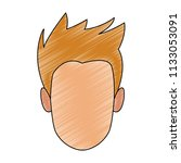 man faceless cartoon scribble   Shutterstock .eps vector #1133053091