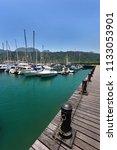 yachts at marina dockyard in... | Shutterstock . vector #1133053901