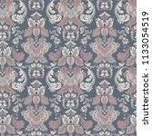 vintage floral seamless patten. ... | Shutterstock .eps vector #1133054519