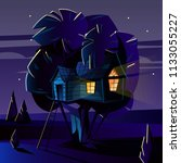 vector cartoon illustration of... | Shutterstock .eps vector #1133055227