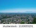 panoramic view of santiago de... | Shutterstock . vector #1133055251