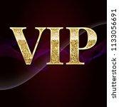 golden symbol of exclusivity ... | Shutterstock . vector #1133056691
