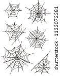 hand drawn happy halloween... | Shutterstock . vector #1133072381