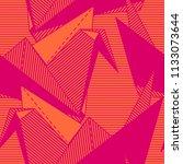 origami cranes. seamless orange ... | Shutterstock .eps vector #1133073644