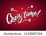 quiz time lettering card ... | Shutterstock .eps vector #1133087234