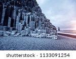 a unique rock on the atlantic...   Shutterstock . vector #1133091254