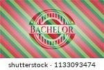 bachelor christmas style emblem.   Shutterstock .eps vector #1133093474