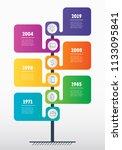 vertical time line infographics.... | Shutterstock .eps vector #1133095841