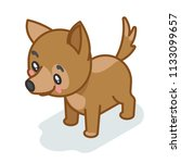 dog cub isometric cute 3d puppy ... | Shutterstock .eps vector #1133099657