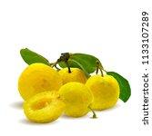 fresh  nutritious  tasty yellow ... | Shutterstock .eps vector #1133107289