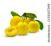 fresh  nutritious  tasty yellow ... | Shutterstock .eps vector #1133107349