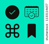 set of 4 interface filled icons ... | Shutterstock .eps vector #1133114657