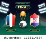 football final match between... | Shutterstock .eps vector #1133114894