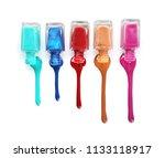 open bottles of nail polishes...   Shutterstock . vector #1133118917