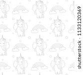cute cartoon lovely black and... | Shutterstock .eps vector #1133120369