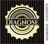 diagnose gold emblem or badge | Shutterstock .eps vector #1133120474