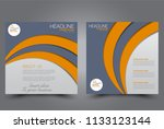 square flyer design. a cover... | Shutterstock .eps vector #1133123144