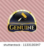 gold badge or emblem with... | Shutterstock .eps vector #1133130347