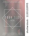 hipster coverage design for... | Shutterstock .eps vector #1133133995
