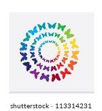 Stock vector butterfly vector 113314231