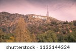 hollywood sign hill | Shutterstock . vector #1133144324