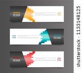 horizontal gradient color... | Shutterstock .eps vector #1133148125