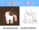 children's coloring book with...   Shutterstock .eps vector #1133155544