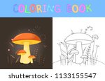 children's coloring book with...   Shutterstock .eps vector #1133155547