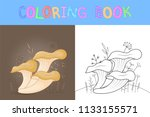 children's coloring book with...   Shutterstock .eps vector #1133155571
