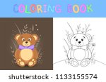 children's coloring book with...   Shutterstock .eps vector #1133155574