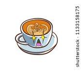 coffee cappuccino vector... | Shutterstock .eps vector #1133158175