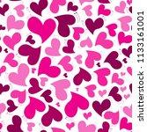 pattern pink hearts vector... | Shutterstock .eps vector #1133161001