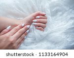 girl with white and gold... | Shutterstock . vector #1133164904