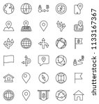 thin line vector icon set  ... | Shutterstock .eps vector #1133167367
