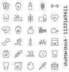 thin line vector icon set  ...   Shutterstock .eps vector #1133169611
