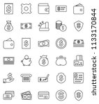 thin line vector icon set  ...   Shutterstock .eps vector #1133170844