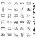 thin line vector icon set  ... | Shutterstock .eps vector #1133172077