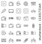thin line vector icon set  ... | Shutterstock .eps vector #1133172164