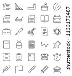 thin line vector icon set  ... | Shutterstock .eps vector #1133173487