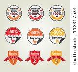 vector set labels   Shutterstock .eps vector #113317564