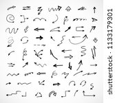 hand drawn arrows  vector set  | Shutterstock .eps vector #1133179301